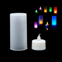 Wholesale New Color LED Changing Electronic Flameless Candle Lamp B2C Shop