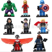 america box set - Superheroes The Avengers Thor Hulk Iron Man Captain America Building Blocks DIY Bricks Toy Color Box Packing cm set