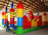 inflatable games inflatable bouncer - Best choose for rent Funny giant inflatable bouncer slide city combo games