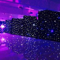 Wholesale 3mx6m LED Wedding Party Curtain LED Star Cloth Black Stage Backdrop LED Star Cloth Curtain Light Wedding Decoration