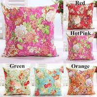 sofa cover - Hot Sales Chinoiserie Countryside Floral Printing Faux Suede Cushion Cover PX232 Sofa Bed Car Throw Pillow Case cm cm