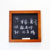 bar chalk board - Creative household hanging blackboard chalk retro decorative wood frame WordPad Bar Cafe Message Board