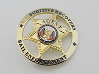 bail enforcement - Metal badges badges of the US American criminal law enforcement agencies pursuit bail chapter Badge