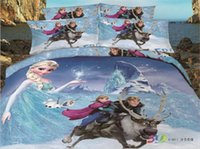 Wholesale Frozen Bedding Sets Elegant Princess Four Pieces Suit Elsa Anna Bed Sheet Bedding Bag Snow White Bobby Bedding Supplies For Children Hot