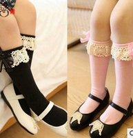 Wholesale Children Socks Kids Best Socks Knit Knee High Socks Korean Lace Baby Girls Socks Kids Sock Children Clothes Kids Clothing Girls Cotton Sock