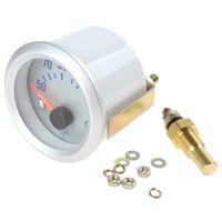 auto oil temperature gauges - 2pcs quot mm Celsius Degree Oil Temperature Meter Gauge with Sensor for Auto Car CEC_508