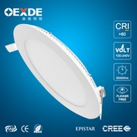 Wholesale Ultrathin LED W W W W W CREE LED Panel lights Recessed lamp Round Square Warm Cool White Led lights for