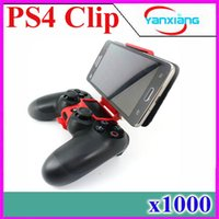 Wholesale New Mini Plastic Smart Phone holder Desktop Mobile Phone Clamp for ps4 Controller to PS4 Game Stretch Clip on Bracket ZY JZ