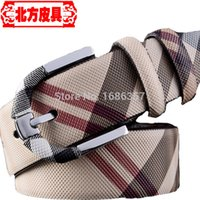 Wholesale Belts Special Offer Adult Pu Belt New Authentic Tartans Belt Pattern Pin Buckle Leather Embossed Classic Casual All match