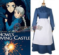 Wholesale Custom Made Howl s Moving Castle Sufi Cosplay Anime Cosplay Costume fancy dress for Halloween and Christmas party