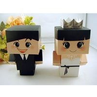 cute doll - Creative Wedding Favors Candy Boxes Bride and Groom Cute Wedding Party Favor Holders Chocolate Gift Box