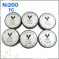 wire - Vapor TECH Pure Nickel Ni200 Wire Temperature Control Wire Feet Gauge for DIY Atomizer TC Mod RBA Coil DHL Free