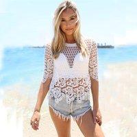 best blouse patterns - Hot Salw Best seller New Openwork Crochet Lace Sleeve Blouse Pattern Beach Clothes