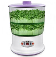 Wholesale Automatic digital timer microcomputer intelligent home double capacity bean sprouts buds sprout machine machine shipping