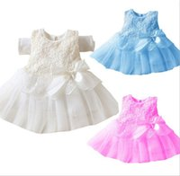 little girls dresses - Baby Girls TUTU Dress For Party Evening Dress Sleeveless Lace Flower White Skirt For little Girl Dress Newborn clothes New Summer Clothes