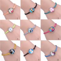 children charm bracelet - Frozen Antique Sideways Charm Queen Elsa Princess Anna Snowman Olaf mix Bracelet Wristbands Party Child Xmas Gift Kinds Of Style