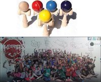 Wholesale DHL free cm Funny Japanese Traditional Wood Toy Kendamas Ball colorful Kendama PU Paint wooden toys