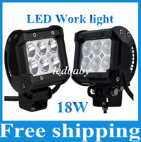 Wholesale 18W Cree LED Work Light Bar Motorcycle Tractor Boat OffRoad WD x4 Motor Bike Truck SUV ATV Spot Flood Beam Lamp v v