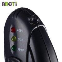Gros-Mini lampe de poche LED Keychain Alcoholimetro ivressomètre Parking Gadgets numérique alcool testeur avec Retail Lcd Timer Clock