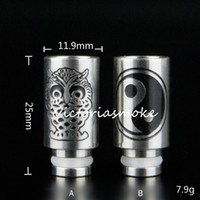 bear owl - Carving Owl Yi studies Stainless steel Drip Tips wide bore Drip Tip for EGO E Cig Tanks Protank Atomizer Mouthpieces