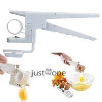 Wholesale Portable Egg Cracker Handheld Yolk Separator Home Kitchen Gadget DIY Cook Tool