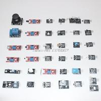 al por mayor sensores de plástico-Wholesale-37 en kits de 1 Caja de sensores para Arduino DE ALTA CALIDAD ENVÍO GRATIS (funciona con oficial para la placa Arduino) (cajas de cartón, no de plástico !!!)