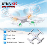 Wholesale New Version SYMA X5C GHz CH HD FPV Camera Axis RC Helicopter Quadcopter Gyro GB TF Card with MP Camera Freeshipping