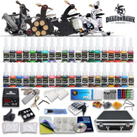 Cheap Professional complete tattoo kits 4 guns machines 40 ink sets needles grips tubes power supply D120GD