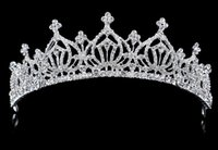 Wholesale wedding hairstyles Charming Crystal Bridal Tiaras Cheap Bridal Tiaras Hair Accessories with Rhinestones Wedding Jewelery Crown