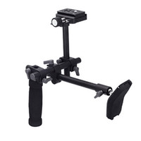 Wholesale DSLR video camcorder handle shoulder support stabilizer rig quick release plate for Digital video Camera DVD