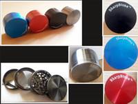 Afilado Piedra hierba de metal grinder Sharpstone 4 piezas duro Grinders tabaco superior Diámetro 50mm / 55mm / 63mm 5 colores Molinillo tabaco