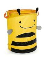 Wholesale oxford fabric Bucket Earmuffs dirty Clothe Clothing Toy basket Organizer Sundries Foldable Storage bucket Z15JJ004