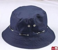 Wholesale 2016 new Spring Summer Sunscreen Sun Hat Hiking Pots caps For Men Women Fishing Bucket hats