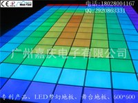 Wholesale show LED tiles fantastic stage design thin light emitting RGB color tiles Fashion Show