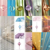 Wholesale String Curtain Beads Panel Spangle Fringe Room Door Window Divider Blind Panel