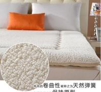 Wholesale 200 CM Foldable Sherpa mattress thickened double tatami mattress thicker Cashmere mattress bed mat