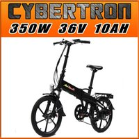 Wholesale Addmotor CYBERTRON C350 Platinum Alloy Integral Wheel Black Folding Stelth Battery Luggage Rack E bike W V AH quot Electric Bicycle