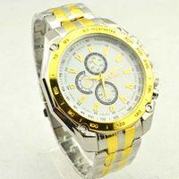 cheap digital watches - Brand New Men Watch High Quality Gold White Fashion Business Stainless Watchband Quartz Movement Anti Shock Cheap Life Waterproof Wristwatch