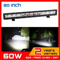 Wholesale 20inch W LED Work Light Bar Spot Flood v v Tractor ATV Offroad Fog light LED Worklight External Light Save on126w