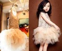 american trumpet - Hug me new spring summer girls sleeveless cotton lace flowers bow belt girls princess tutu dress