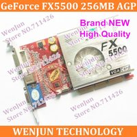 Wholesale HK POST Direct from Factory NEW GeForce FX5500 MB DDR AGP X X VGA DVI Video Card AGP card graphic card
