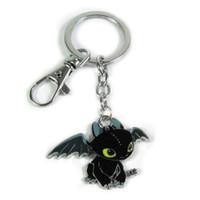 animations electronics - Movie Animation How To Train Your Dragon Keychain Toothless Night Fury Animal Pendant Keychain New Style Key Holder
