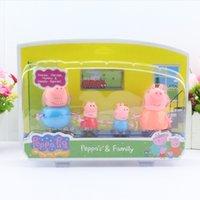 peppa pig - Peppa a Pig Figures Set Plastic Peppa a Pig Family action figure Toys Peppa a Pig party Figure Doll Cheap set cm