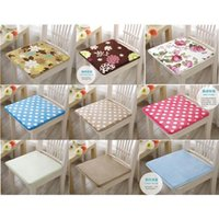 Wholesale Square Cotton Coral velvet Thicken Seat Cushion Buttocks Chair Cushion Pads For Home Office Car Decor Styles Optional