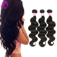 Wholesale 7A unprocessed remy human hair body Brazilian hair bundles wavy Brazilian virgin hair extensions Peruvian Indian Malaysian real human hair