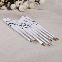 white acrylic paint - White Nail Brushes Nail Tools Nail Art Design Polish Brush Painting Pen Set Drawing Liners Tool Styling tools H13155