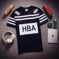 Wholesale Summer new products sell like hot cakes hip hop popular logo men s short sleeve HBA printed cotton men s T shirt