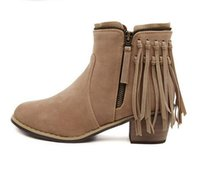 Cheap Heeled Fringe Boots | Free Shipping Heeled Fringe Boots ...