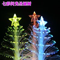 fiber optic tree - New Arrive cm Christmas tree fiber optic light colorful light emitting the flowers three dimensional christmas tree decoration gift