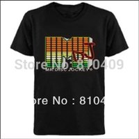 active inverter - MDJ sound active equalizer led t shirt led shirts light up and down el t shirts with AAA battery Inverter